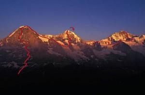 Stephan Siegrist és Ueli Steck: 24 óra alatt megmászták az Eiger, a Mönch és a Jungfrau északi falát