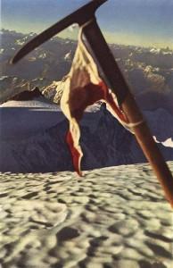 Hermann Buhl a Nanga Parbat csúcsán